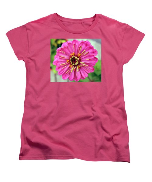 State Fair Zinnia Women's T-Shirt (Standard Cut) by Steve Archbold