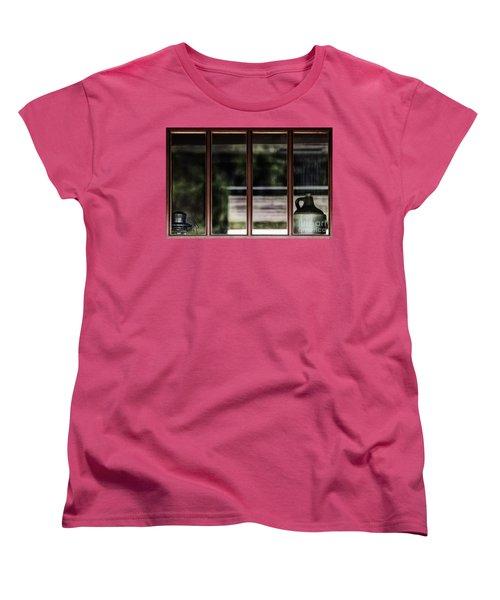 Women's T-Shirt (Standard Cut) featuring the photograph Station Window by Brad Allen Fine Art