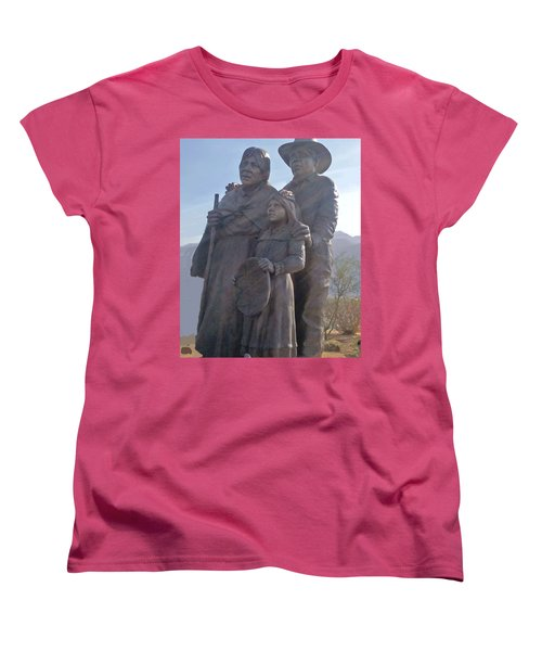 Statuary Dedicated To The American Indian Women's T-Shirt (Standard Cut)