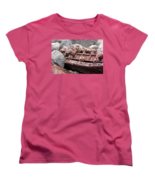 Steam Shovel Number Four Women's T-Shirt (Standard Cut) by Kandy Hurley