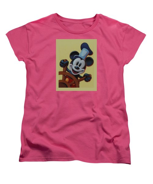 Steamboat Willy Women's T-Shirt (Standard Cut) by Rob Hans