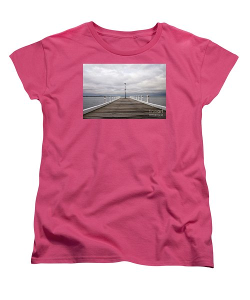 Women's T-Shirt (Standard Cut) featuring the photograph Steampacket Quay by Linda Lees