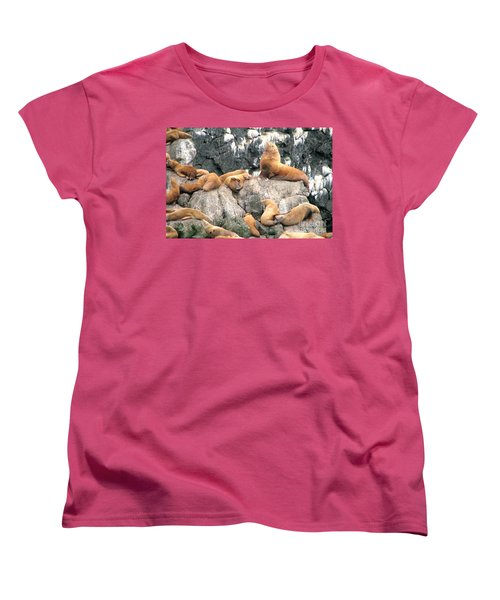 Steller Bull With Harem Women's T-Shirt (Standard Cut)