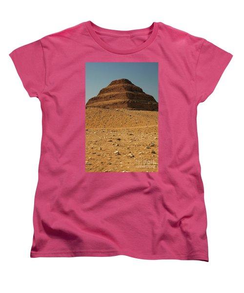 Step Pyramid Women's T-Shirt (Standard Cut) by Joe  Ng