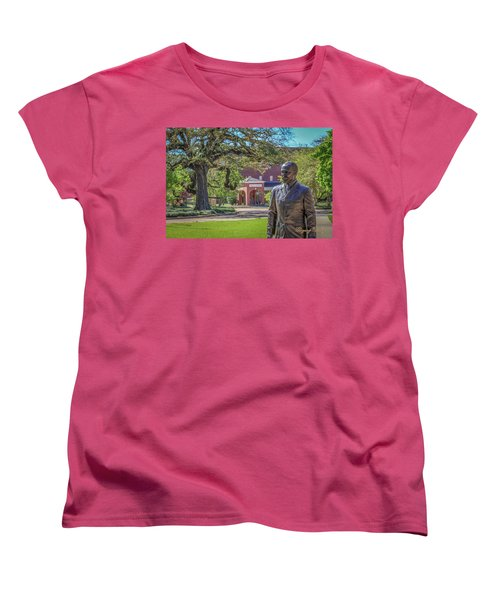Women's T-Shirt (Standard Cut) featuring the photograph Stephens, Oaks And Walk Of Honor by Gregory Daley  PPSA