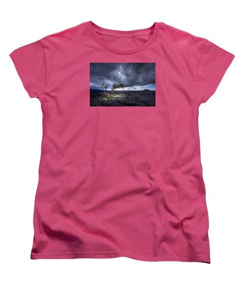 Women's T-Shirt (Standard Cut) featuring the photograph Still Fighting by Dan Mihai