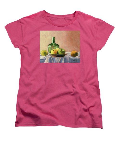 Still Life With Bottle Women's T-Shirt (Standard Cut)