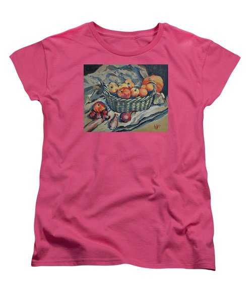 Still Life With Fruit And Vegetables Women's T-Shirt (Standard Fit)