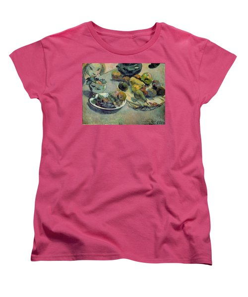 Still Life With Fruit Women's T-Shirt (Standard Cut) by Paul Gauguin