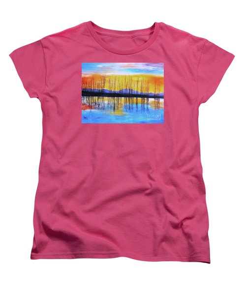 Still Waters From The Water Series  Women's T-Shirt (Standard Cut) by Donna Dixon