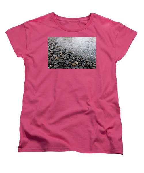 Women's T-Shirt (Standard Cut) featuring the photograph Menorca Pebble Beach  by Pedro Cardona
