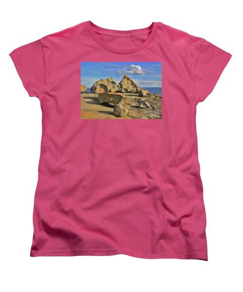 Stone Sculpture Women's T-Shirt (Standard Cut) by Stephen Mitchell