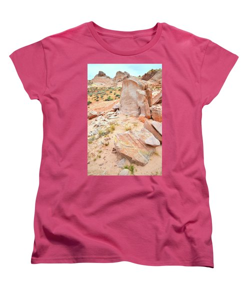 Women's T-Shirt (Standard Cut) featuring the photograph Stone Tablet In Valley Of Fire by Ray Mathis