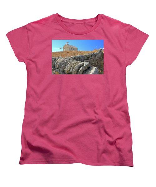 Stone Wall Education Women's T-Shirt (Standard Cut) by Christopher McKenzie