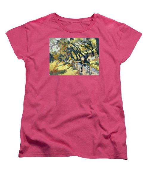 Stone Wall Olive Grove Terrace Women's T-Shirt (Standard Fit)