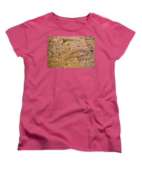 Women's T-Shirt (Standard Cut) featuring the photograph Stones In A Mud Water Wash by John Williams