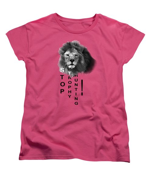 Women's T-Shirt (Standard Cut) featuring the photograph Stop Trophy Hunting by Jivko Nakev