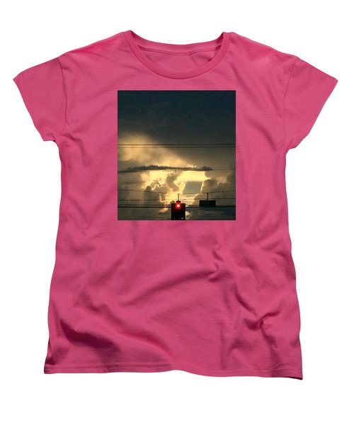 Stoplight In The Sky Women's T-Shirt (Standard Cut) by Audrey Robillard