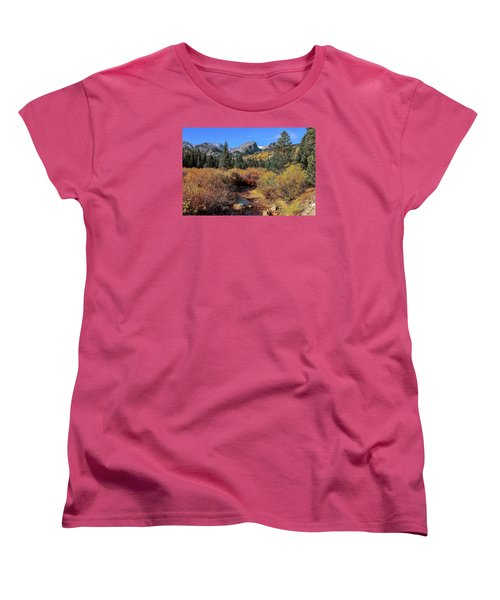 Women's T-Shirt (Standard Cut) featuring the photograph Storm Pass Trail by Perspective Imagery