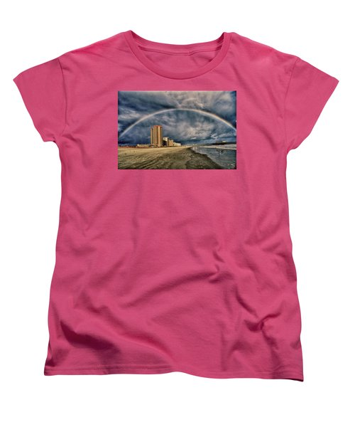 Women's T-Shirt (Standard Cut) featuring the photograph Stormy Rainbow by Kelly Reber