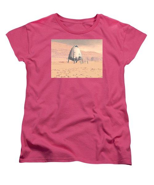 Women's T-Shirt (Standard Cut) featuring the digital art Stormy Skies by David Robinson