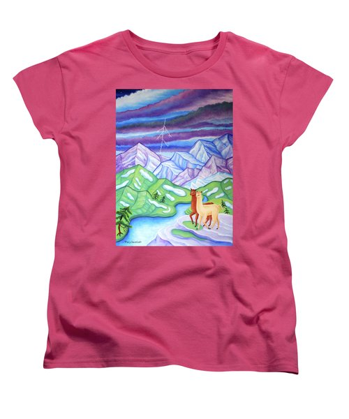 Stormy Weather Women's T-Shirt (Standard Cut) by Tracy Dennison