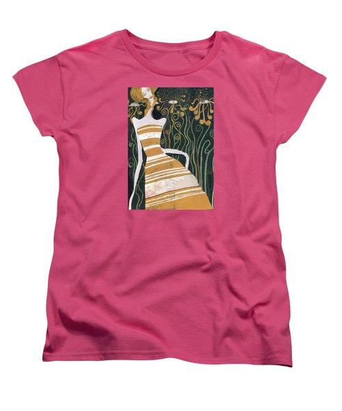 Women's T-Shirt (Standard Cut) featuring the painting Stripe Dress by Maya Manolova