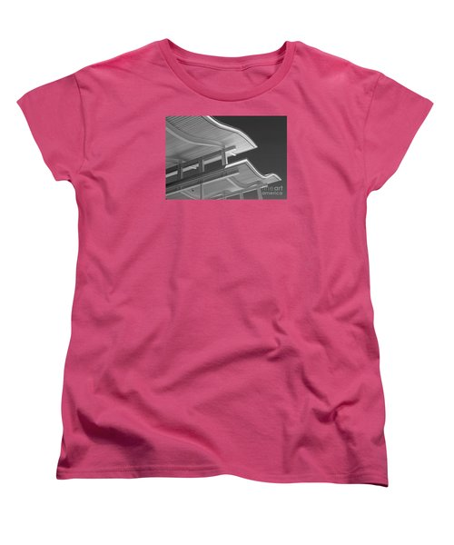 Structure Abstract 6 Women's T-Shirt (Standard Cut) by Cheryl Del Toro
