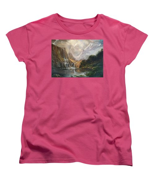 Women's T-Shirt (Standard Cut) featuring the painting Study In Nature by Donna Tucker