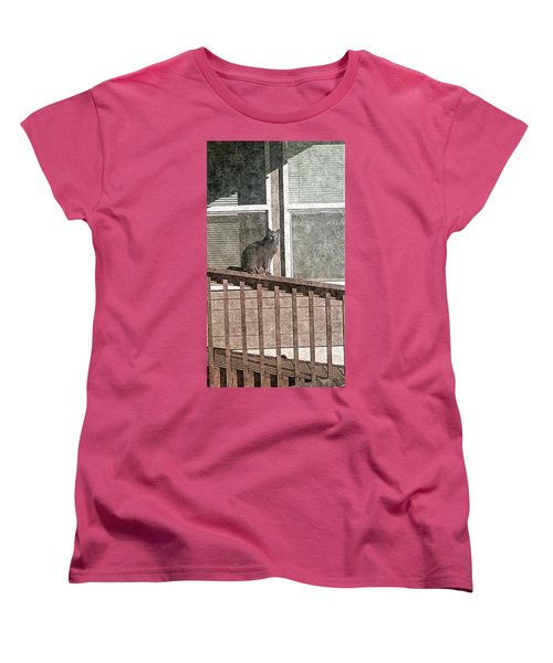 Study Of Lines With Cat Women's T-Shirt (Standard Cut)