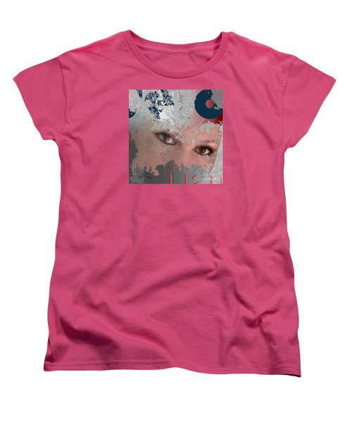 Women's T-Shirt (Standard Cut) featuring the digital art Subway Walls by Leo Symon