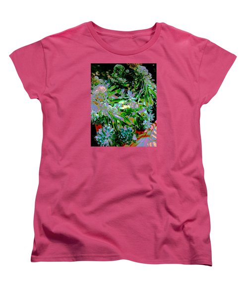 Succulent Pot Women's T-Shirt (Standard Cut) by M Diane Bonaparte