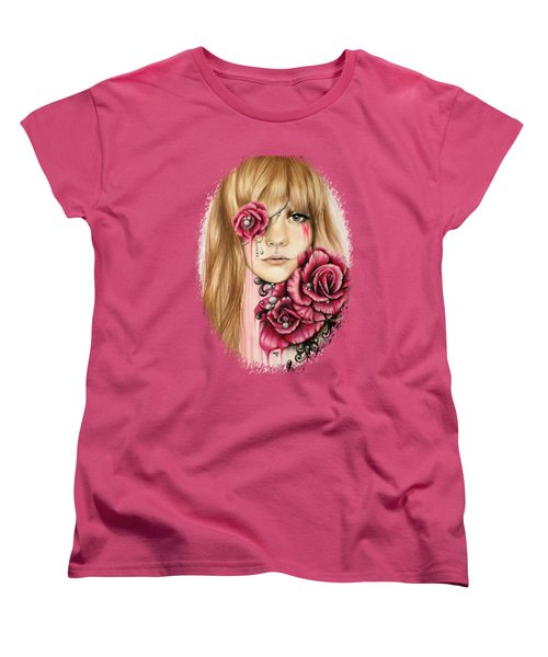 Women's T-Shirt (Standard Cut) featuring the drawing Sullenly Sweet  by Sheena Pike