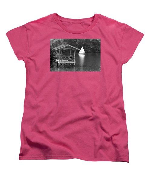 Summer Camp Black And White 1 Women's T-Shirt (Standard Cut) by Michael Fryd