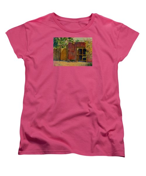 Women's T-Shirt (Standard Cut) featuring the painting Summer Day In Santa Fe by Ann Peck