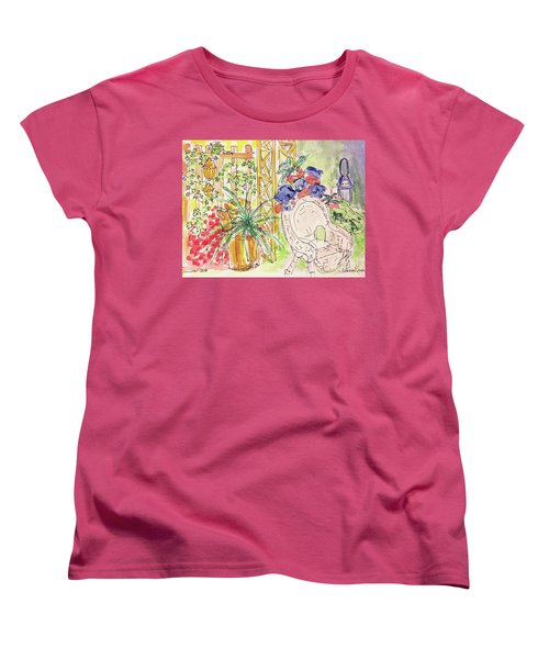 Summer Garden Women's T-Shirt (Standard Cut) by Barbara Anna Knauf
