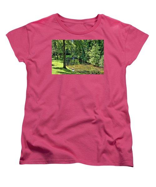 Women's T-Shirt (Standard Cut) featuring the photograph Summer Stream by Cricket Hackmann