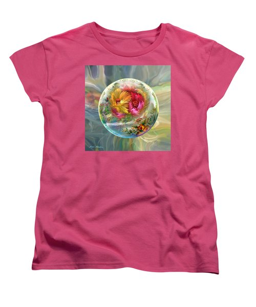 Women's T-Shirt (Standard Cut) featuring the digital art Summer Daydream by Robin Moline