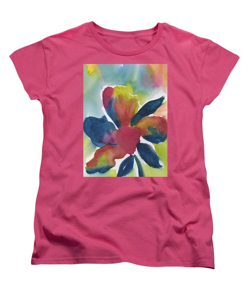 Women's T-Shirt (Standard Cut) featuring the painting Sunburst by Frank Bright