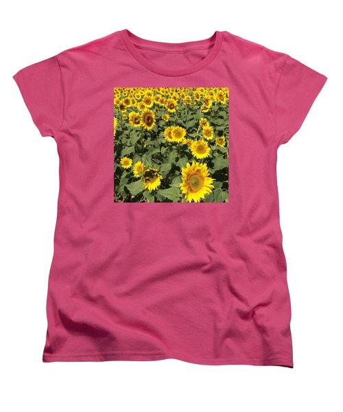 Women's T-Shirt (Standard Cut) featuring the photograph Sunflower 2016 by Caroline Stella