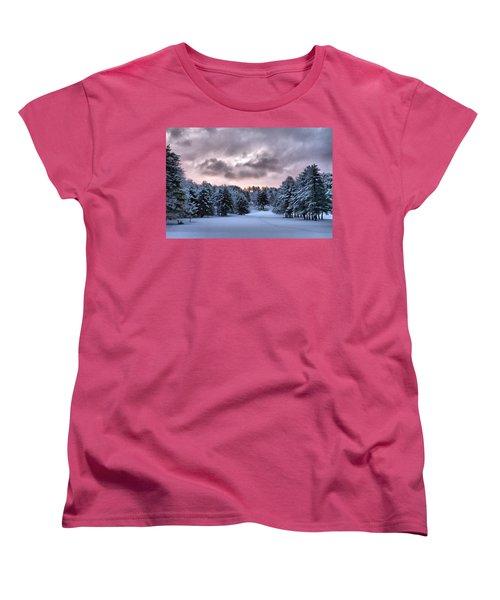Sunrise After The Snow  Women's T-Shirt (Standard Cut) by Betty Pauwels