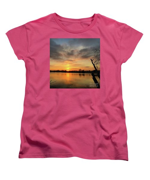 Women's T-Shirt (Standard Cut) featuring the photograph Sunrise At Jacobson Lake by Sumoflam Photography