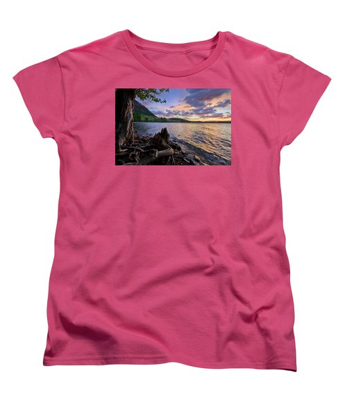 Sunrise At Waterton Lakes Women's T-Shirt (Standard Cut) by Dan Jurak