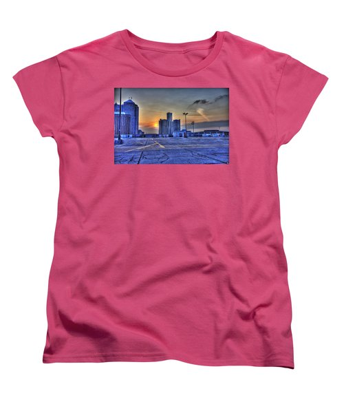 Sunrise In Detroit Mi Women's T-Shirt (Standard Cut) by Nicholas  Grunas