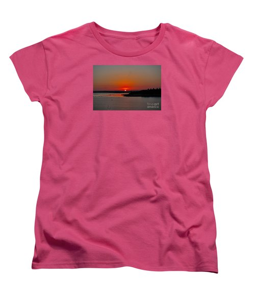 Women's T-Shirt (Standard Cut) featuring the photograph Sunrise On Lake Ray Hubbard by Diana Mary Sharpton