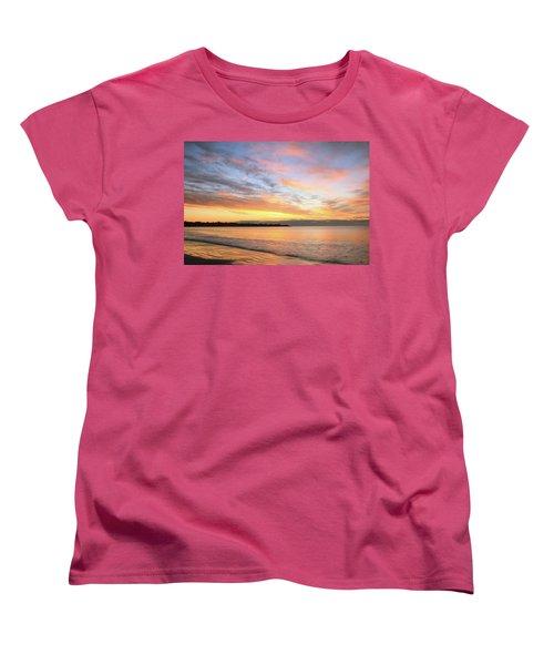Women's T-Shirt (Standard Cut) featuring the photograph Sunrise On Middletown Rhode Island by Roupen  Baker