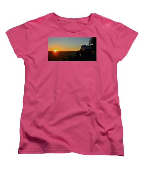 Women's T-Shirt (Standard Cut) featuring the photograph Sunrise On The Farm by Chris Berry