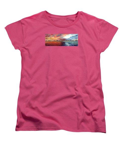 Sunrise Over Indian Lake Women's T-Shirt (Standard Cut) by Nancy Cupp