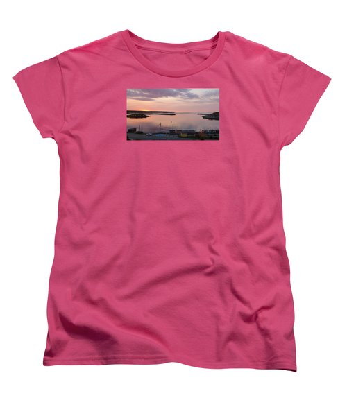 Sunrise Port Aux Basque, Newfoundland  Women's T-Shirt (Standard Cut) by Joel Deutsch