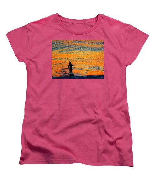 Sunrise Silhouette Women's T-Shirt (Standard Cut) by Kathy Long